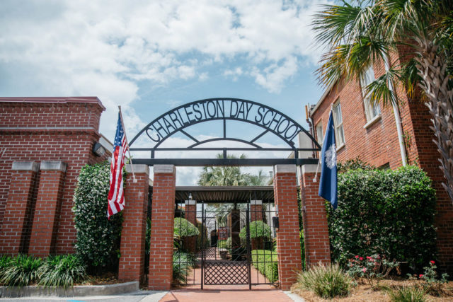 charleston day school entrance and sign
