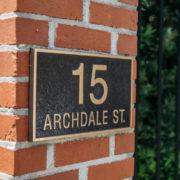 CDS address plaque outside entrance