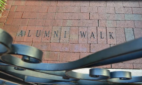 alumni walkway bricks