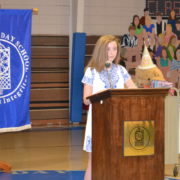 8th grade speech presented by girl during assembly