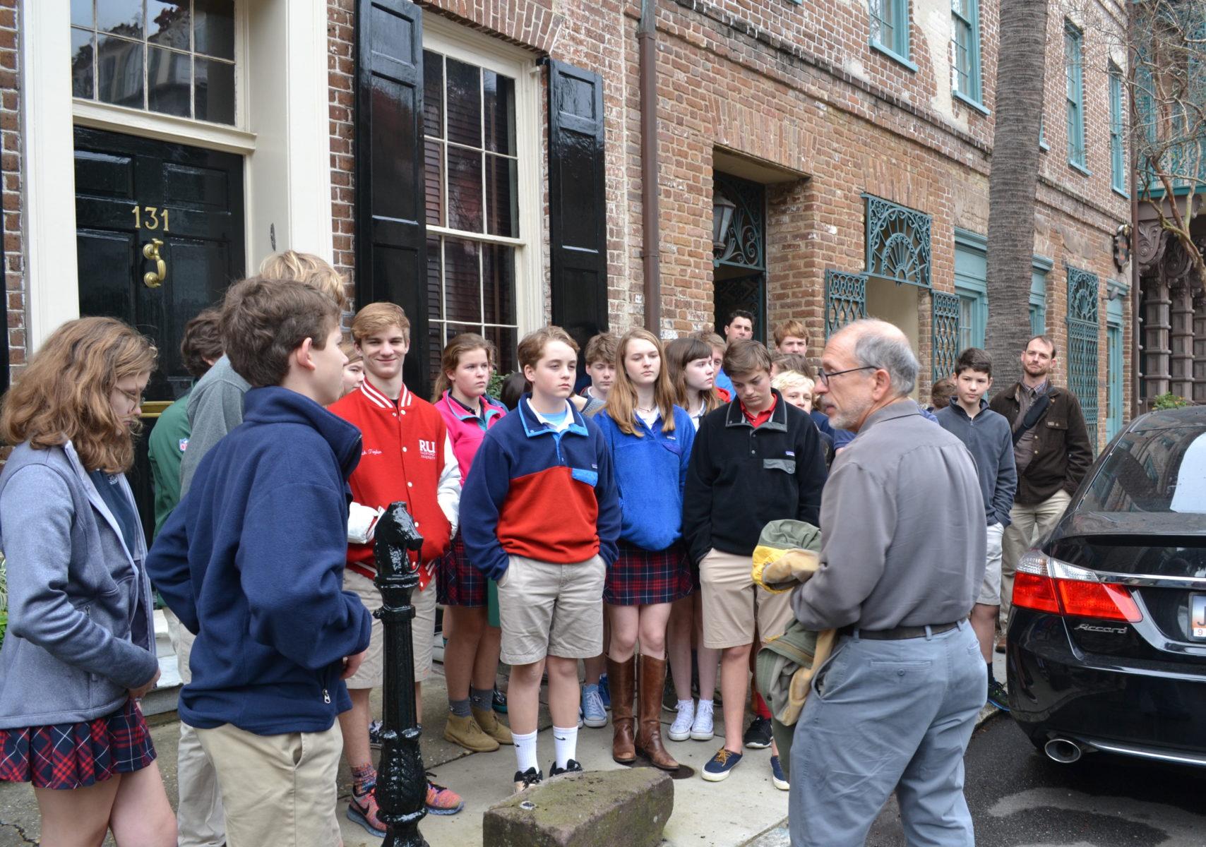 class takes historic tour of charleston