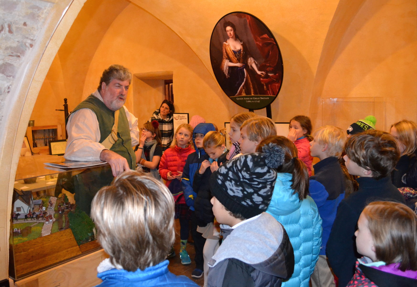 students learn during history field trip