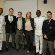 with cadet finalists of Citadel speaking contest