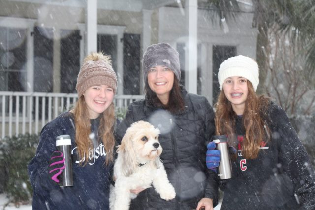 Givens family with dog