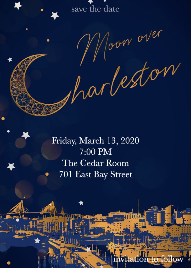Save the date! Friday, March 13, 2020 7:00 PM The Cedar Room 701 East Bay Street